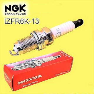 หัวเทียน NGK IRIDIUM HONDA IZFR6K13 PART NO. 9807B - 56A7W (1ชุด4หัว) Honda  jazz city