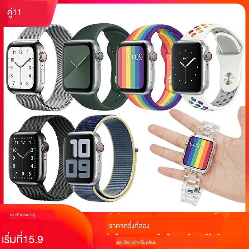 *พร้อมส่ง*[รายการที่สองครึ่งราคา] ใช้ได้กับสาย Apple Watch applewatch6 สมาร์ทวอทช์ 3/4/5 / SE 6 สายรัดข้อมือห่วงไนลอนรุ
