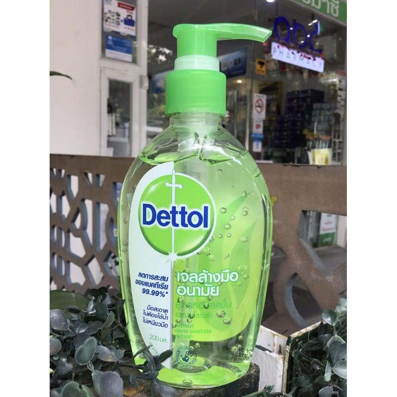 Dettol เจลล้างมืออนามัย สูตรหอมสดชื่น ผสมอโลเวร่า 200 มล.