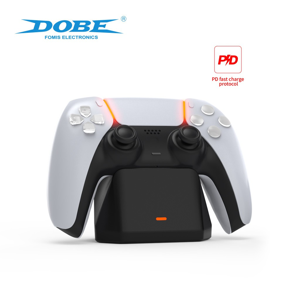 2021 New】Dobe Playstation 5 Controller Charger , Single Controller Docking  Station Display Holder with Fast Charging Cable for PS5 Controller TP5-0586  ฿320