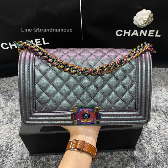 "Chanel boy 10"" holo 21"