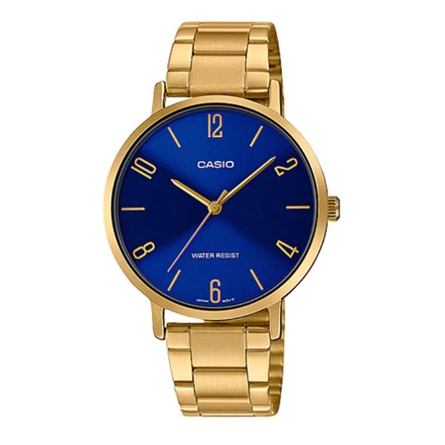 Casio Standard นาฬิกาข้อมือผู้หญิง สายสแตนเลส รุ่น LTP-VT01G,LTP-VT01G-2B - สีทอง