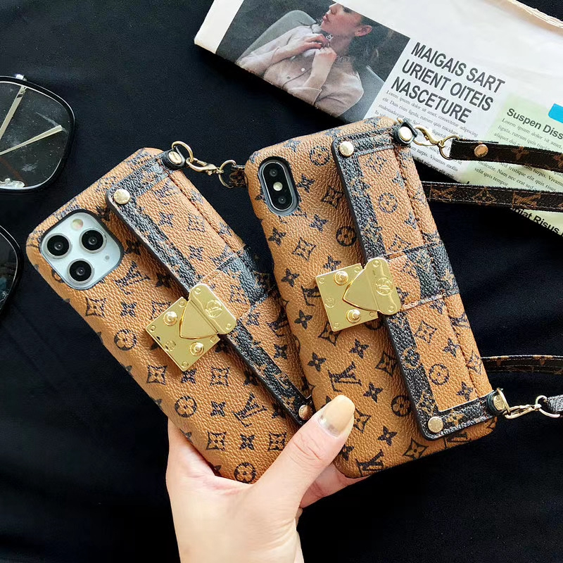 หุ้น For iphone11 pro Max iX fashion Daphne classic contrast pattern apple XR XsMax wallet magnetic card holder iphone 6 6s 7 8 Plus  phone case Diagonal span