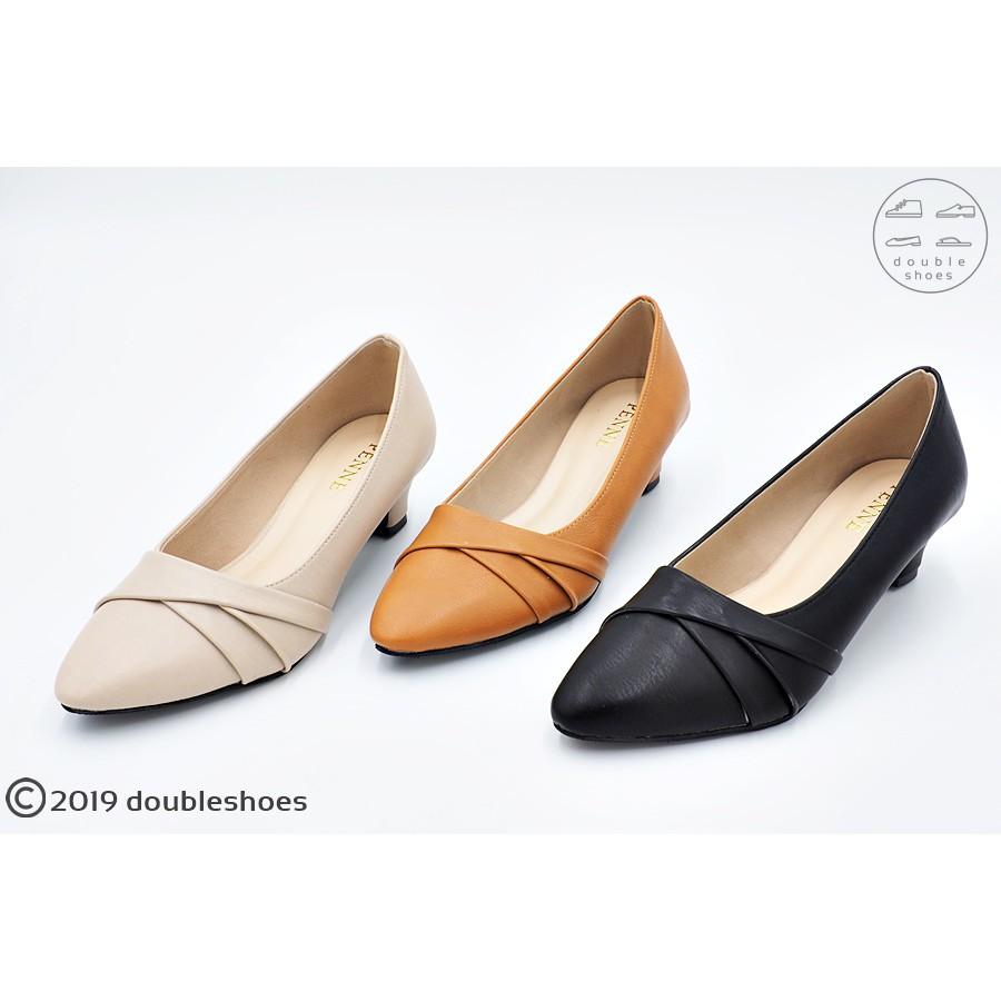 รองเท้าคัชชูปลายแหลม รองเท้าออกงาน  รองเท้าทำงาน รองเท้าส้นสูง 1-2นิ้ว รุ่น PY8411 (สีดำ / ครีม / แทน) ไซส์ 35-40