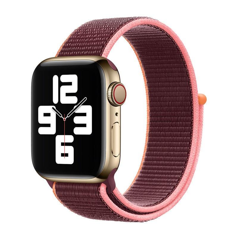 สาย applewatch สายแอปเปิ้ลวอช AppleWatch Apple Watch แท็บเล็ตที่มี 6 Generation SE Nylon Loop Sport Iwatch54321 ชายและหญ
