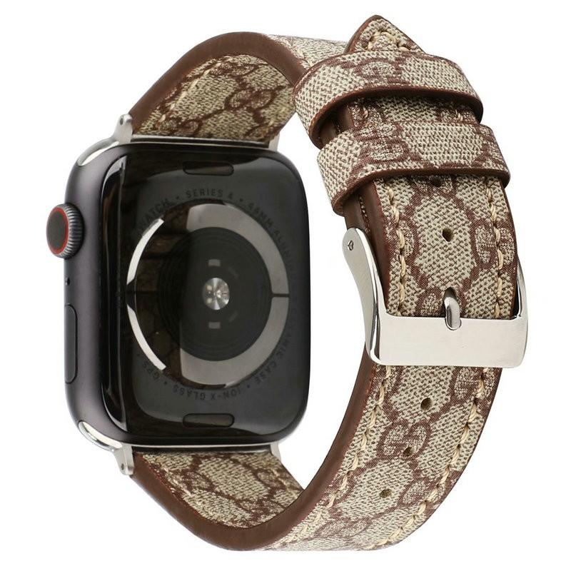 【สาย Apple】ใช้ได้กับ apple watch 6/5 รุ่น se นาฬิกา iwatch4321 หนังสายแฟชั่น Gucci หญิง