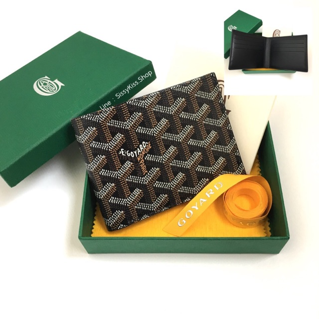 New Goyard 8 cards wallet ดำ