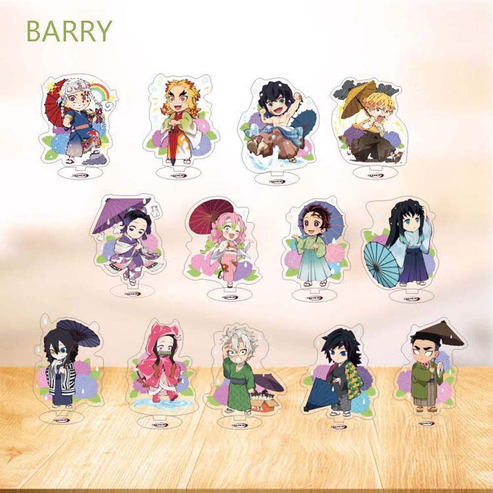 BARRY Cartoon Desktop Decoration Model Toy Figure Model Plate Demon Slayer Kamado Tanjirou Cute Acrylic Stand Kimetsu no Yaiba Tomioka Giyuu Kamado Nezuko Desktop Standing Card