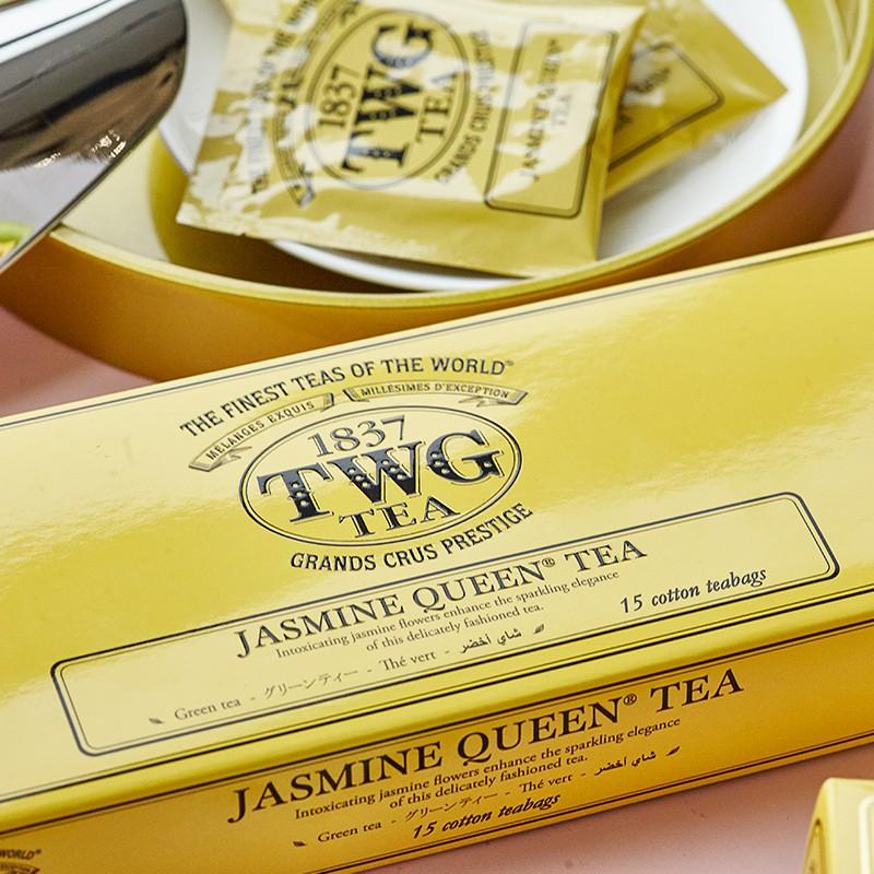 TWG Tea เลือกชาเขียวมะลิ, ถุงชา, ถุงชาฝ้ายแฮนด์เมด, ของขวัญวันหยุด