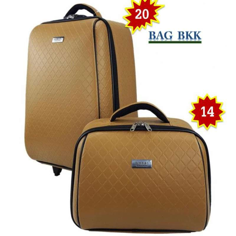 BAG BKK Luggage Wheal กระเป๋าเดินทางล้อลาก ระบบรหัสล๊อค เซ็ทคู่ ขนาด 20 นิ้ว/14 นิ้ว Code F7807-20 Chaa