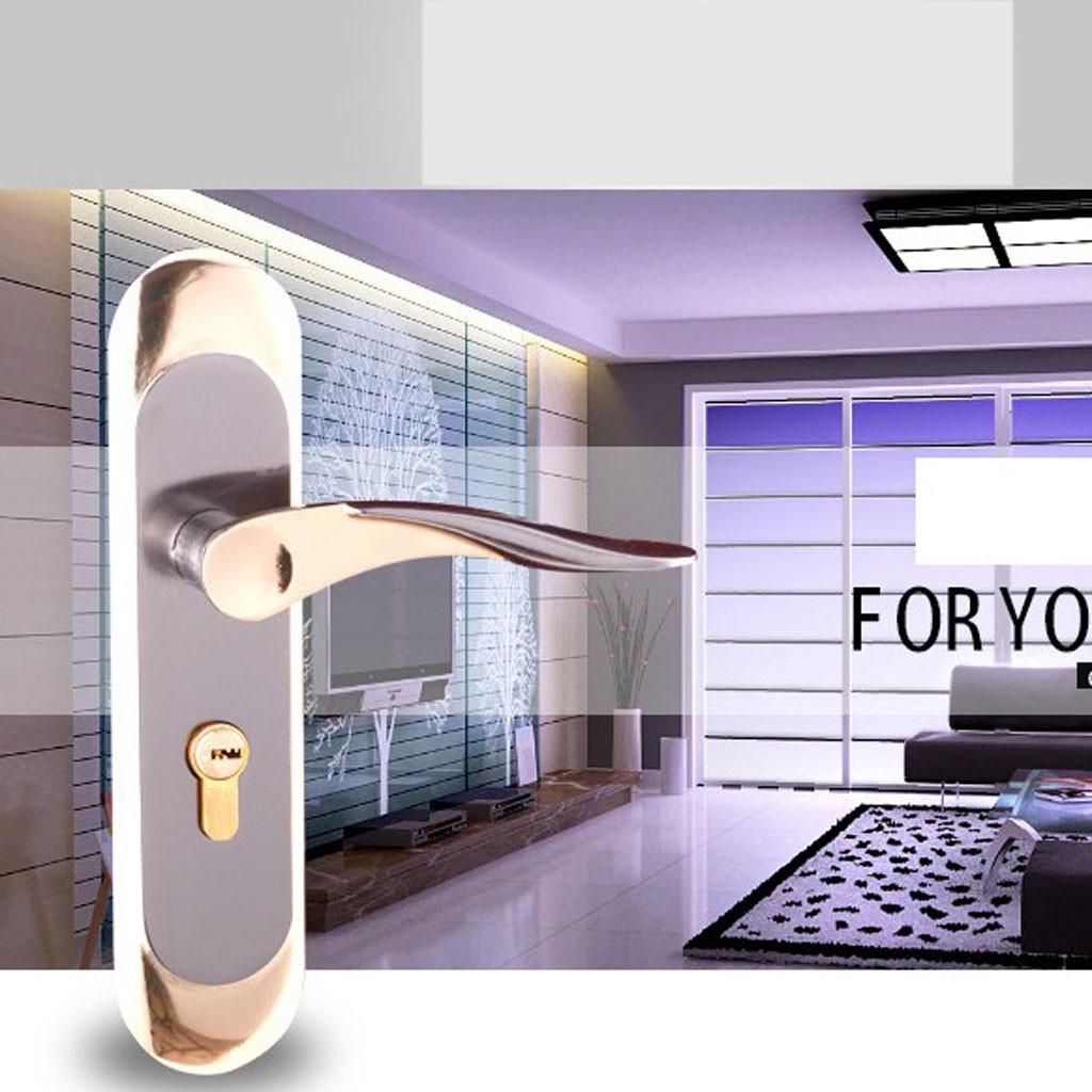 Minimalism Interior Door Lock Latch Bedroom Privacy Lever Lockset Hardware