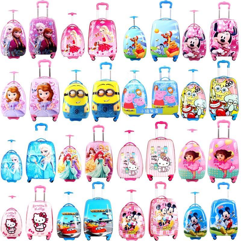 ✉⌘ กระเป๋าเดินทางล้อลากใบเล็ กระเป๋าเดินทางล้อลากเด็กรถเข็นกระเป๋าเด็กสาวโรงเรียนประถมกระเป๋าเดินทางเจ้าหญิงลากเดินทางเด