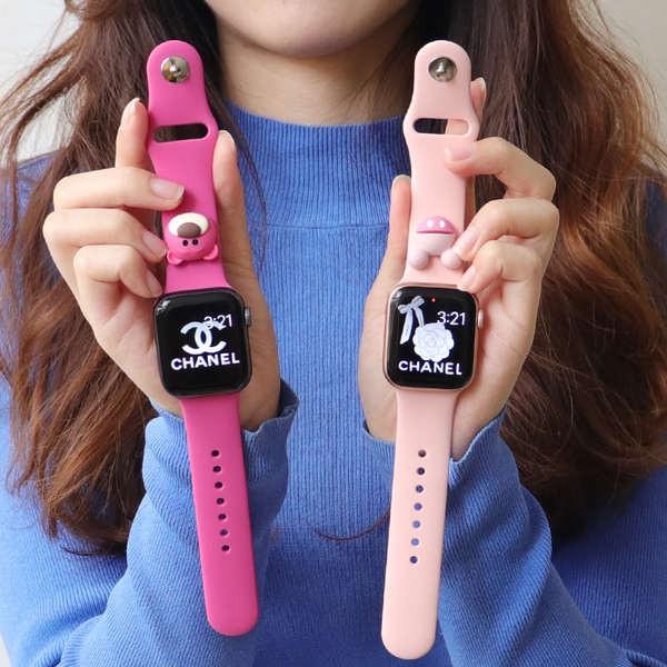 สาย applewatch สายรัด iwatch ที่ใช้งานได้ applewatch apple watch 6/5 / SE รุ่น 4 การ์ตูนเปลือกป้องกันชุดน่ารัก 40 มม. 44