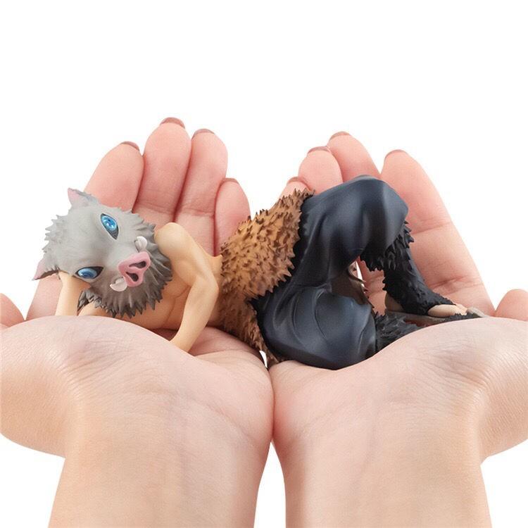 Pocket Series Demon Slayer Blade Mouthhira Inosuke Lying Position 12 Figure Model Gift Gift Model