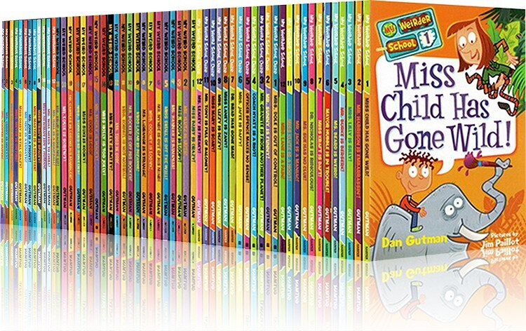57 Books My Weird School (Season 1 to 4) box Set Children English Story Comic Book Campus Life Theme Chapter Book 6-12