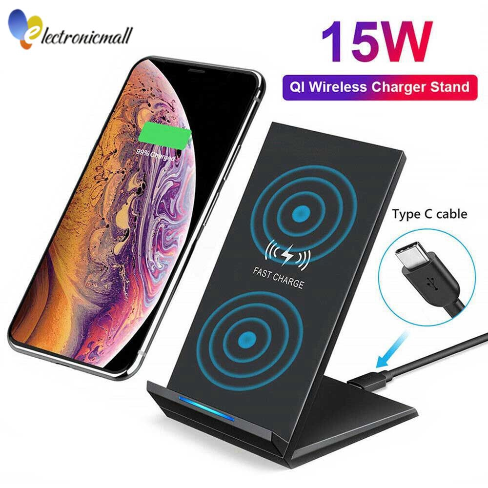 5 Coils 10W/7.5W Wireless Charging Pad for iPhone 11/11 Pro/11 Pro ...