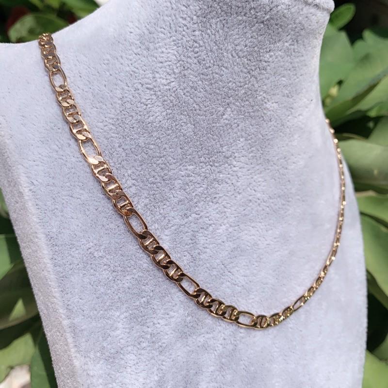 Xuping jewelry สร้อยคอสไตล์ อิตาลีpink gold  งานชุบ18K Premium อย่างดี ตาราใส่ ผู้หญิง/ผู้ชาย