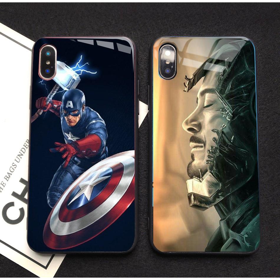 Avengers Glass case Samsung A82018 A8+ J5 J5-2016 A7-2018 J7pro J3Pro J2pro NOTE9 A6+ A92018