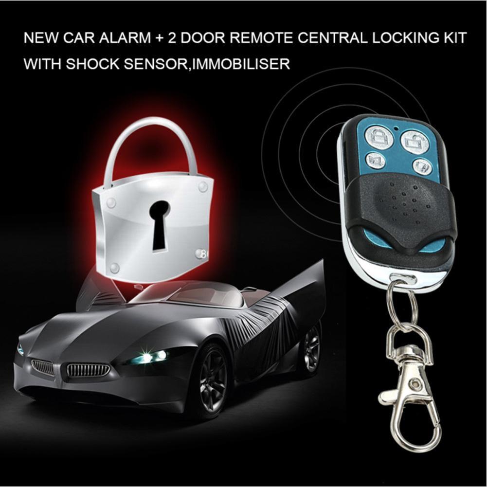 ஐKELIMA Remote Central Locking Kit Car Alarm+2 Doors with Immobiliser Shock  Sensor