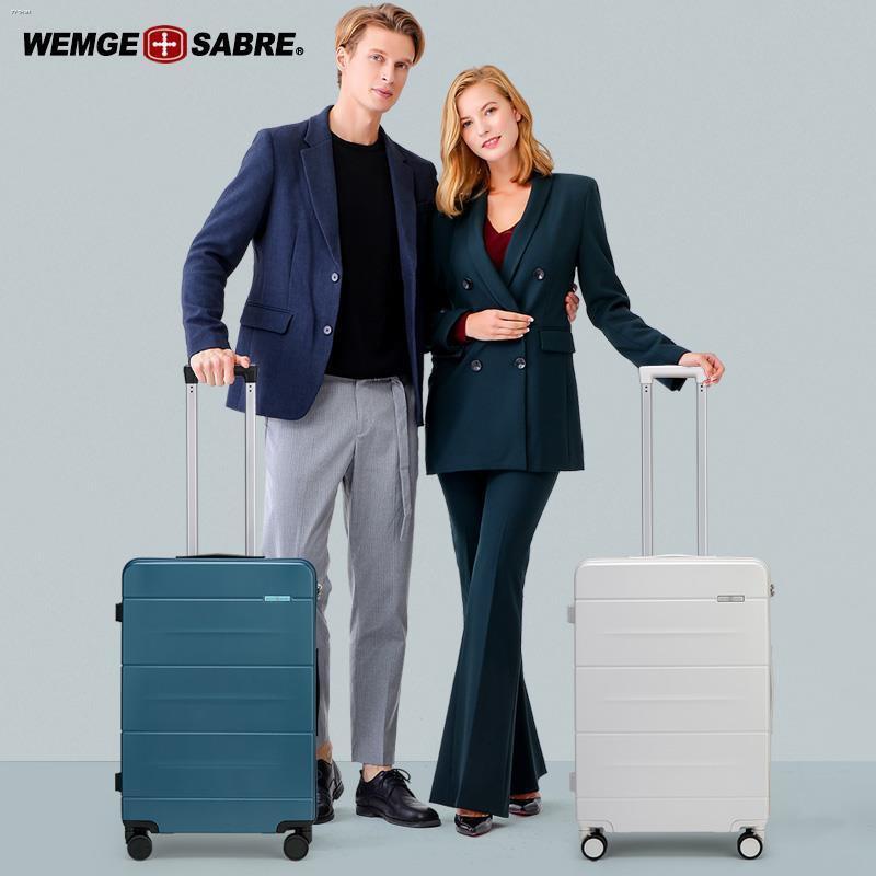 ﹍﹉♧กระเป๋าเดินทางมีดทหารสวิส กระเป๋าเดินทางชาย กระเป๋าเดินทางล้อลาก หญิง 24 นิ้ว กล่องรหัสผ่าน กระเป๋าเดินทาง 20 นิ้ว มี