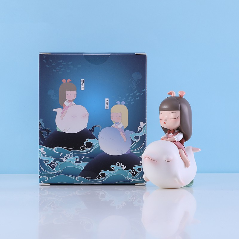 ✔♦☂Anime Figure Garage-Kit Cute Kawaii Toys Doll Model Dolphin-Series PVC Ornaments Dream-Of-Fairy-Tale