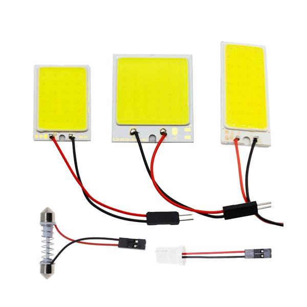หลอดไฟ 48 SMD COB LED T 10 4 W 12V สำหรับติดภายในรถยนต์