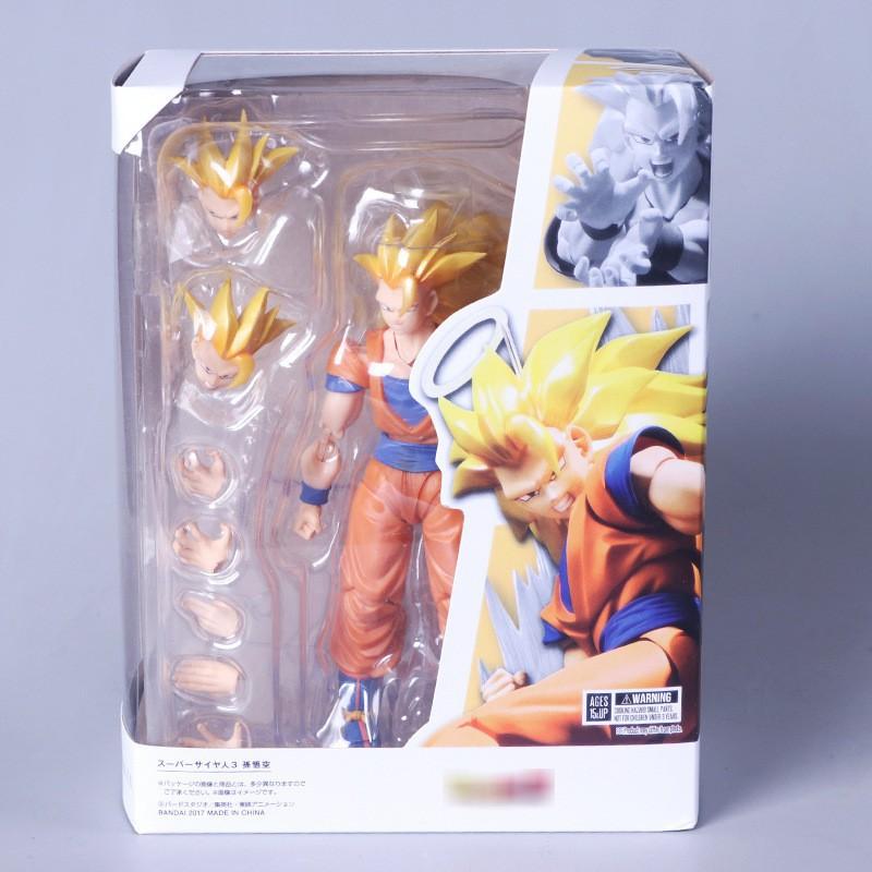 ฟิกเกอร์ Anime DragonBall Z Son Goku Super Saiyan 3 PVC 17 17 # 3227