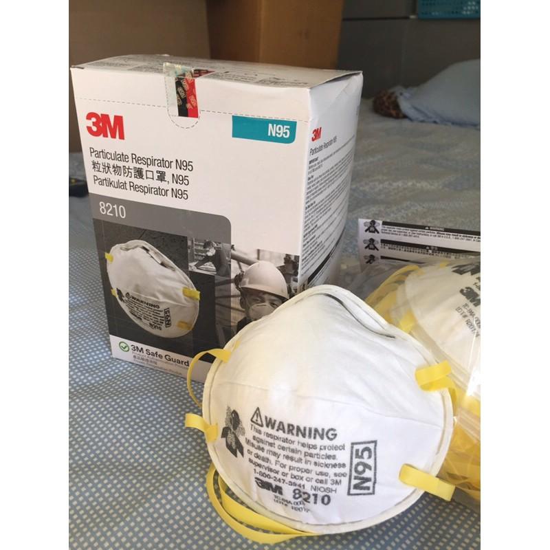 หน้ากากอนามัยN95,3M8210 ป้องกันฝุ่นควัน สารเคมี และเชื้อโรค