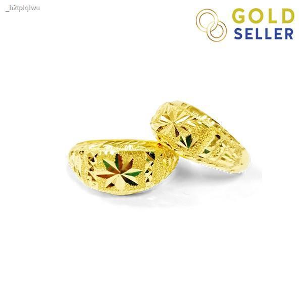 ราคาต่ำสุด☞☜Goldseller แหวนทอง หัวโปร่ง ครึ่งสลึง คละลาย ทองคำแท้ 96.5%