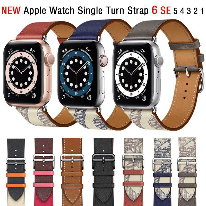 Cow Leather strap For Apple Watch Series 6 SE 5 4 3 2 1 Replacement strap for applewatch Apple Watch 44mm 42mm 40mm 38mm