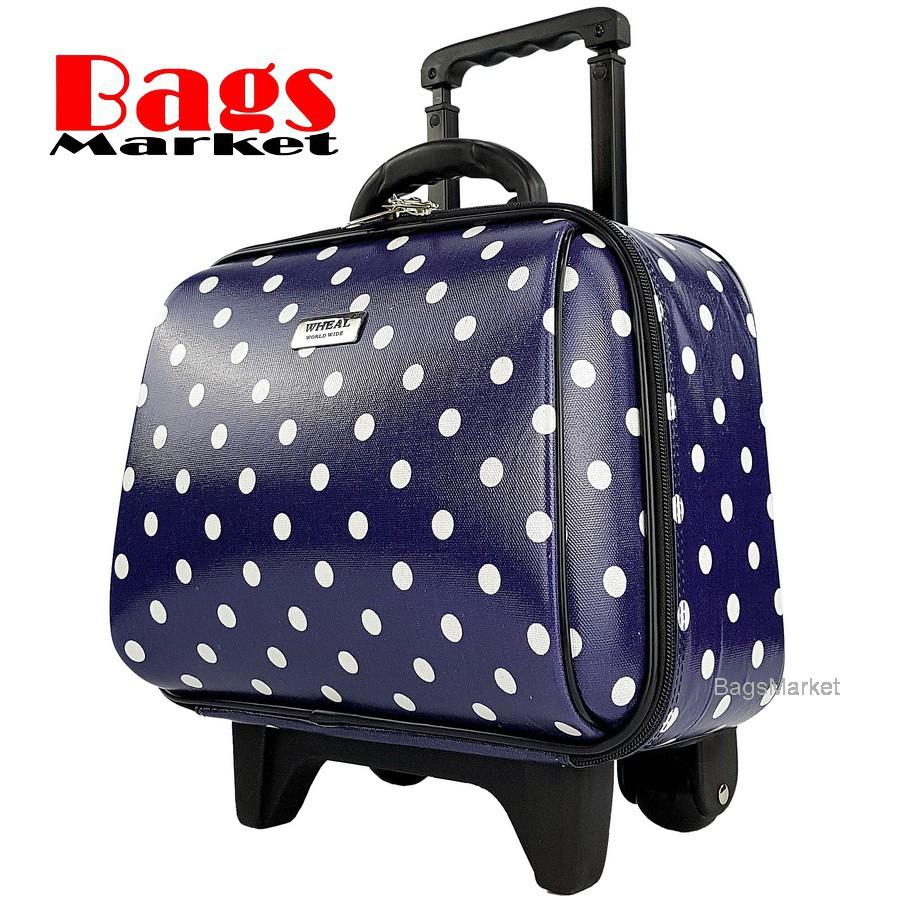 กระเป๋านักเรียนล้อลาก Wheal กระเป๋าเดินทางล้อลากคุณภาพดี 14 นิ้ว 2 ล้อ Code F771914-2 B-Dot (Blue)