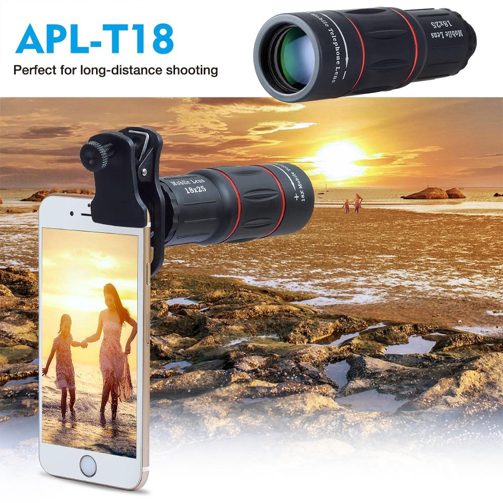เลนส์กล้องโทรทรรศน์ซูมได้ 18 เท่าสําหรับ Iphone Samsung สมาร์ทโฟน
