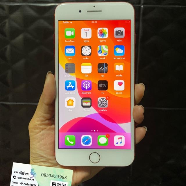 มือถือมือสองiphone7plus 128g สีแดง อุปกรณ์ชุดชาร์จ