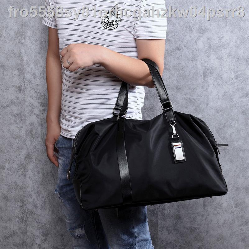 ☾☜▤ใหม่กระเป๋าถือผู้ชายกระเป๋าผ้า Oxford กระเป๋าผู้ชายกระเป๋าเดินทางอินเทรนด์กระเป๋าผ้าใบลำลองกระเป๋าสะพายข้างกระเป๋าใบ