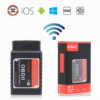 ELM327 OBD2 WIFI V1.5 Supports Android/iOS Car Diagnostic Tool With PIC18F25K80 ELM 327 Diesel Cars Code Scanner WizT