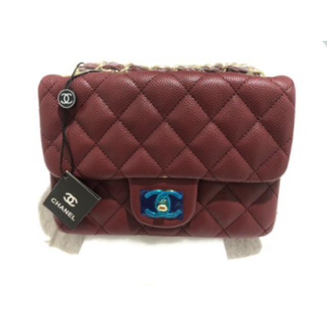 """# Chanel classic mini 7"""" red"""