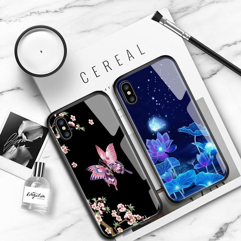 เคสสำหรับ Samsung Galaxy A6 A7 A8 A9 2018 Plus A750 A530 A730 A9S PRO 2019 A8S Star ดอกไม้ผีเสื้อ เคสโทรศัพท์ Case เคสมือถือ