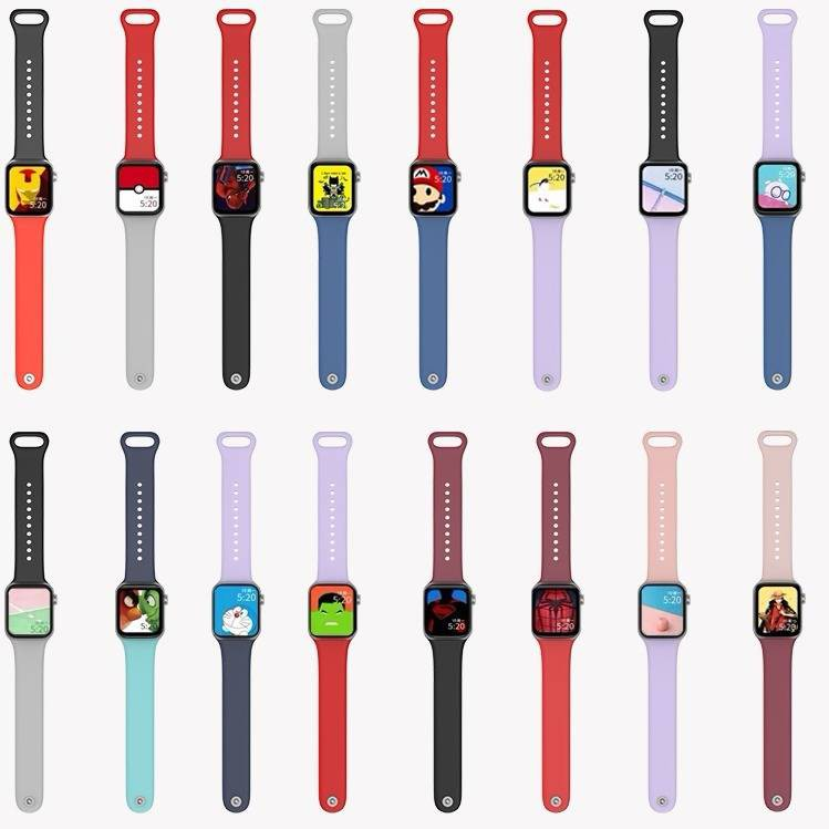 💥 สาย applewatch 🔥 เหมาะสำหรับสาย Applewatch4 Nike Nike Apple Watch สายซิลิโคนผู้ชายและผู้หญิงน้ำ 38/42/40/44