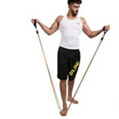 ยางยืดออกกำลังกาย  5in1 Elastic Resistance ผ้ายืดออกกำลังกาย ยางยืดแรงต้าน  ยางยืดออกกำลังกายแรงต้านสูง
