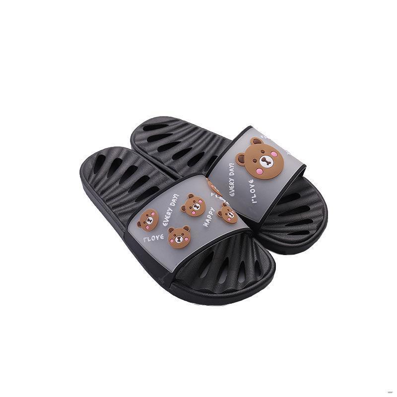ยางยืดออกกําลังกาย☑✢✖🌈รองเท้าสตรี🌈  รั่วรองเท้าแตะหญิงในร่มห้องน้ำในครัวเรือนอาบน้ำรองเท้ากันลื่นและรองเท้าแตะคู่รองเ