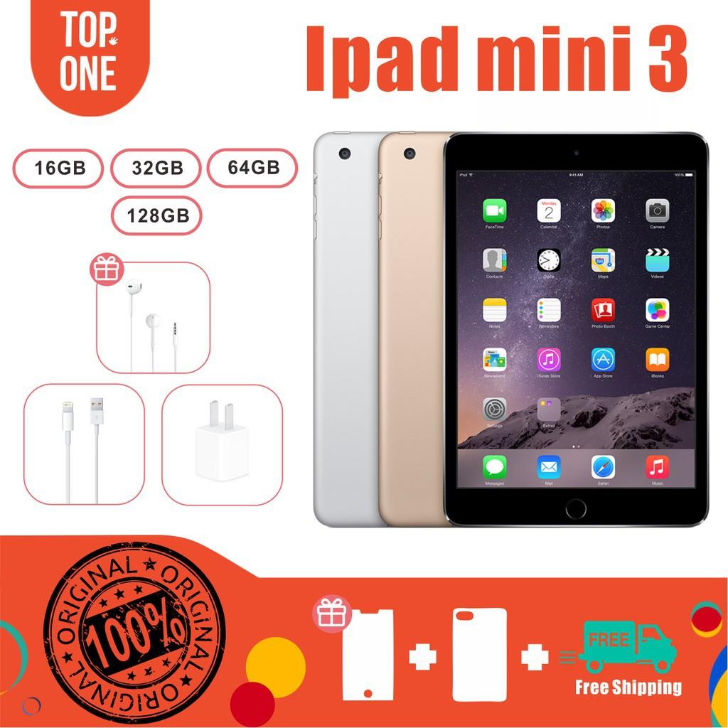 Apple Ipad Mini 3 90% เหมือนของใหม่ 100% (Cellular + WiFi หรือ WiFi เท่านั้น) 128GB 64GB 32GB 16GB (มือสอง)