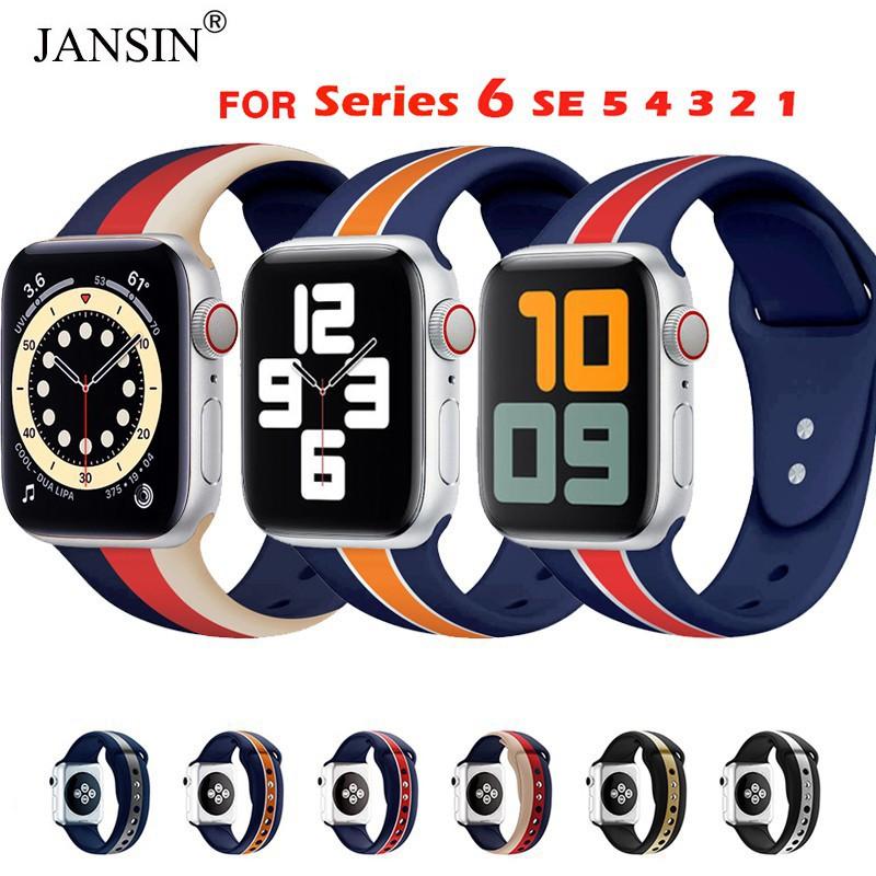 ✕☏✗สาย Apple Watch Sport Band สายซิลิโคน สำหรับ applewatch 38มม 40มม 42มม 44มม Series SE 6/5/4/3/2/1