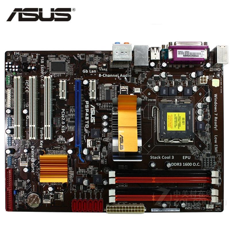 ASUS P5P43TD Motherboard LGA 775 DDR3 16GB For Intel P5P43TD Desktop  Mainboard Systemboard SATA II PCI-E X16 AMI BIOS