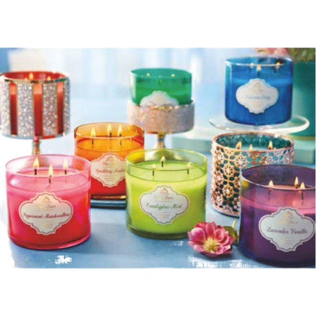 🏆♂(พร้อมส่ง) Bath and Body Work : 3 wick Candle เทียน หัว Paris Cafe / Eucalyptus Vanilla Birch Mahogany Teakwood