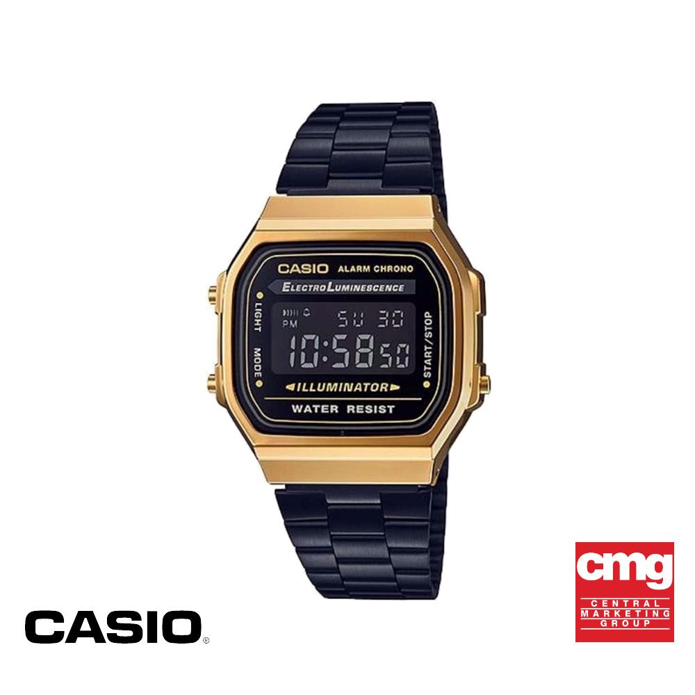 [ของแท้] CASIO นาฬิกาข้อมือผู้ชาย รุ่น A168WEGB-1BDF นาฬิกา นาฬิกาข้อมือ นาฬิกากันน้ำ สายสแตนเลส ESR7
