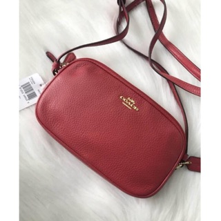 Review พร้อมส่ง แท้ 🇺🇸💯% New Coach รุ่น CROSSBODY POUCH (COACH F30259) TRUE RED/IMITATION GOLD