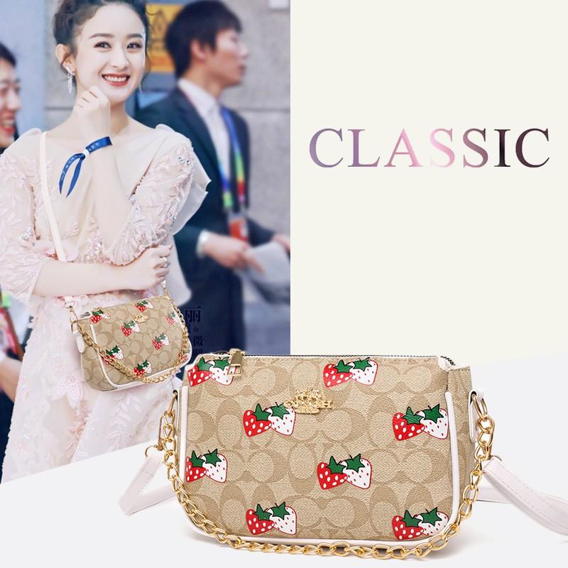 miss bag fashion พร้อมส่ง กระเป๋า สะพายข้าง แฟชั่น coach-caimei-dj