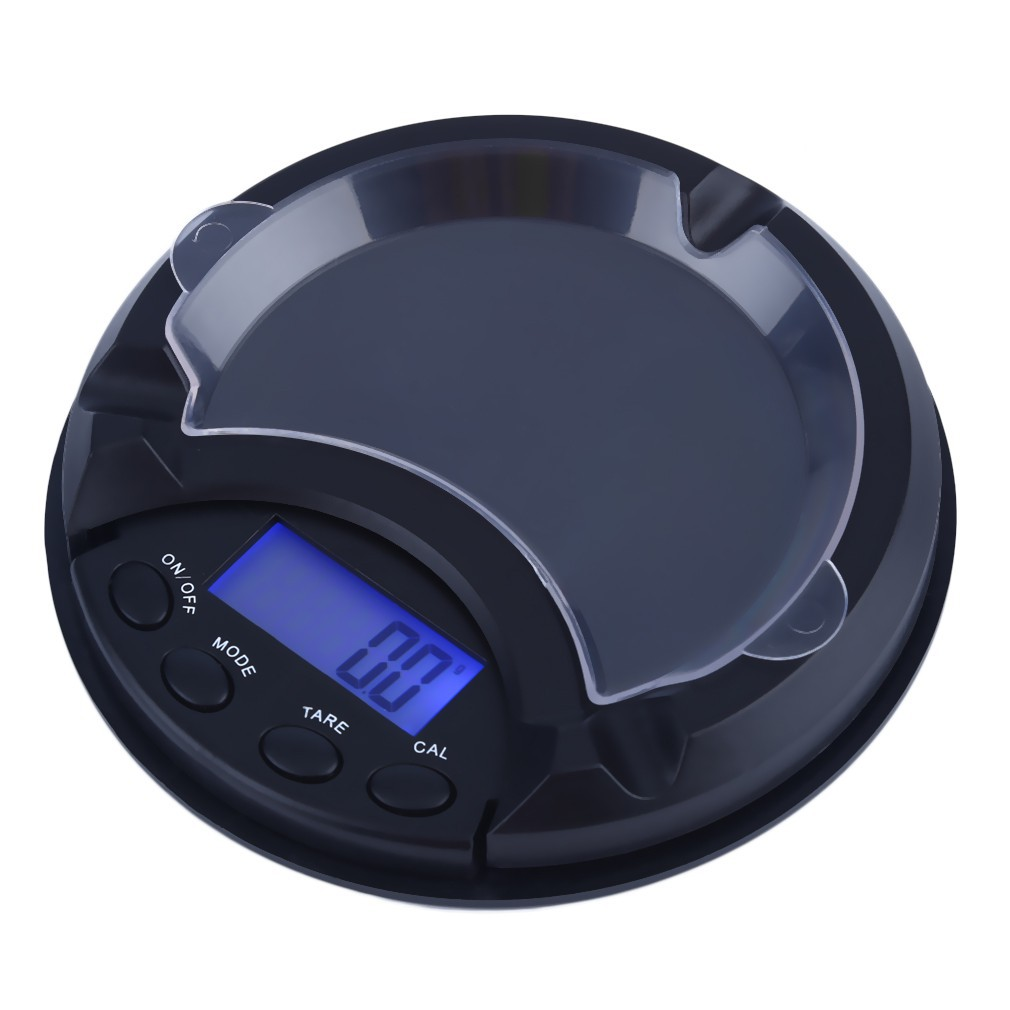 Mni 0.01g x 500g Digital Scale Unique Ash Tray Design Scale Black YS