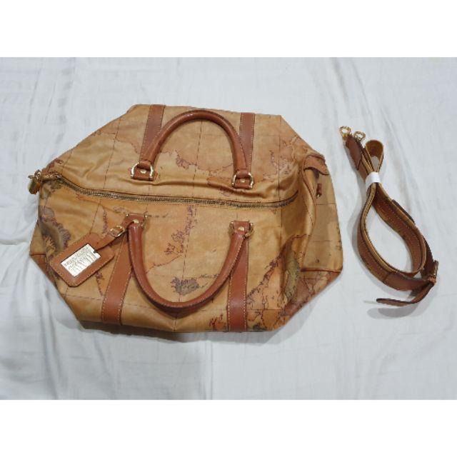 กระเป๋าลายแผนที่โลก  Alviero Martini Travel Bag มือ2ของแท้