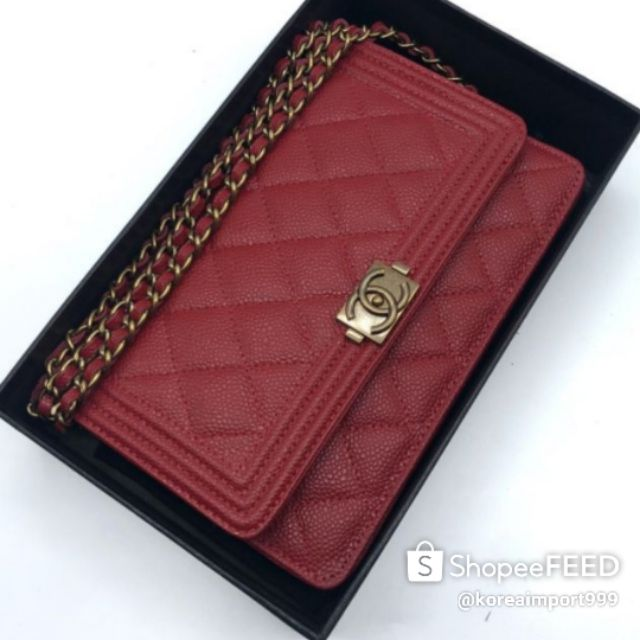 Chanel Boy Woc Caviar Leather Bag